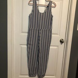 NWT Drew Blue & White Striped Jump Suit